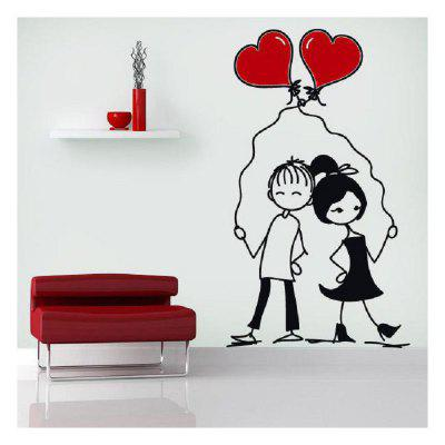 DSU Lovers Hold Love and Love Bedroom Wall Stickers DIY Home Wedding Decor Stickers 249186001