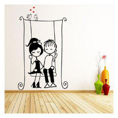 DSU Rocking Chair Swinging Lovers Bedroom Wall Stickers DIY Home Wedding Decor StickersWall Stickers<br>DSU Rocking Chair Swinging Lovers Bedroom Wall Stickers DIY Home Wedding Decor Stickers<br><br>Brand: DSU<br>Function: 3D Effect, Decorative Wall Sticker<br>Material: Vinyl(PVC)<br>Package Contents: 1 x Wall Sticker<br>Package size (L x W x H): 65.00 x 5.00 x 5.00 cm / 25.59 x 1.97 x 1.97 inches<br>Package weight: 0.4000 kg<br>Product size (L x W x H): 166.00 x 100.00 x 0.10 cm / 65.35 x 39.37 x 0.04 inches<br>Product weight: 0.3500 kg<br>Quantity: 1<br>Subjects: Fashion,Others,Cute,Cartoon<br>Suitable Space: Living Room,Bedroom<br>Type: 3D Wall Sticker, Plane Wall Sticker