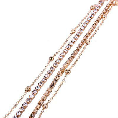 Long Double Chain Rhinestone Metal Choker NecklaceJewelry Sets<br>Long Double Chain Rhinestone Metal Choker Necklace<br><br>Gender: For Women<br>Jewelry Sets Type: Necklace / Earrings<br>Length of Chain: 32+5cm<br>Metal Type: Alloy<br>Occasion: Party<br>Package Contents: 1 x  Necklace, 1 x Pair of Earrings, 1 x Opp<br>Package size (L x W x H): 10.00 x 8.00 x 6.00 cm / 3.94 x 3.15 x 2.36 inches<br>Package weight: 0.0200 kg<br>Shape/Pattern: Round<br>Style: Romantic
