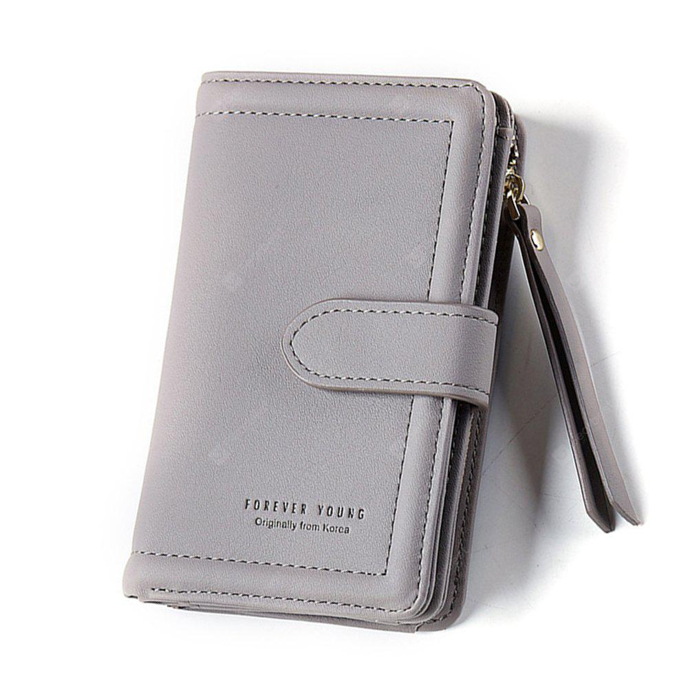 Women Wallet Lady Clutch Wallets Girl Coin Purse Credit Card Holder GRAY