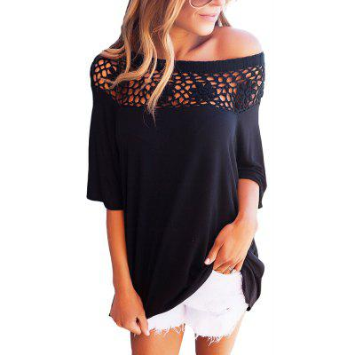 Patchwork Lace Casual T-Shirt