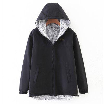 Buy BLACK M Women's Quilted Coat Hooded Zipper All Match Comfy Hooded Outerwear for $35.70 in GearBest store