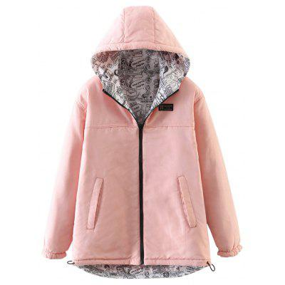 Buy PINK M Women's Quilted Coat Hooded Zipper All Match Comfy Hooded Outerwear for $35.70 in GearBest store