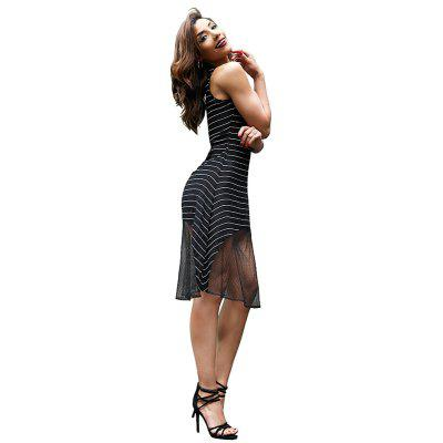 Black Sexy Striped Lace DressWomens Dresses<br>Black Sexy Striped Lace Dress<br><br>Dresses Length: Knee-Length<br>Elasticity: Elastic<br>Fabric Type: Lace<br>Material: Spandex, Nylon<br>Neckline: Scoop Neck<br>Package Contents: 1 x dress<br>Pattern Type: Striped<br>Season: Summer<br>Silhouette: Trumpet/Mermaid<br>Sleeve Length: Sleeveless<br>Style: Fashion<br>Weight: 0.1100kg<br>With Belt: No