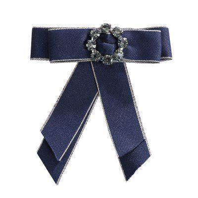 Europe and The United States Court Clothing Accessories Corsage Ribbon Bow Brooch Crystal Mosaic Flowers