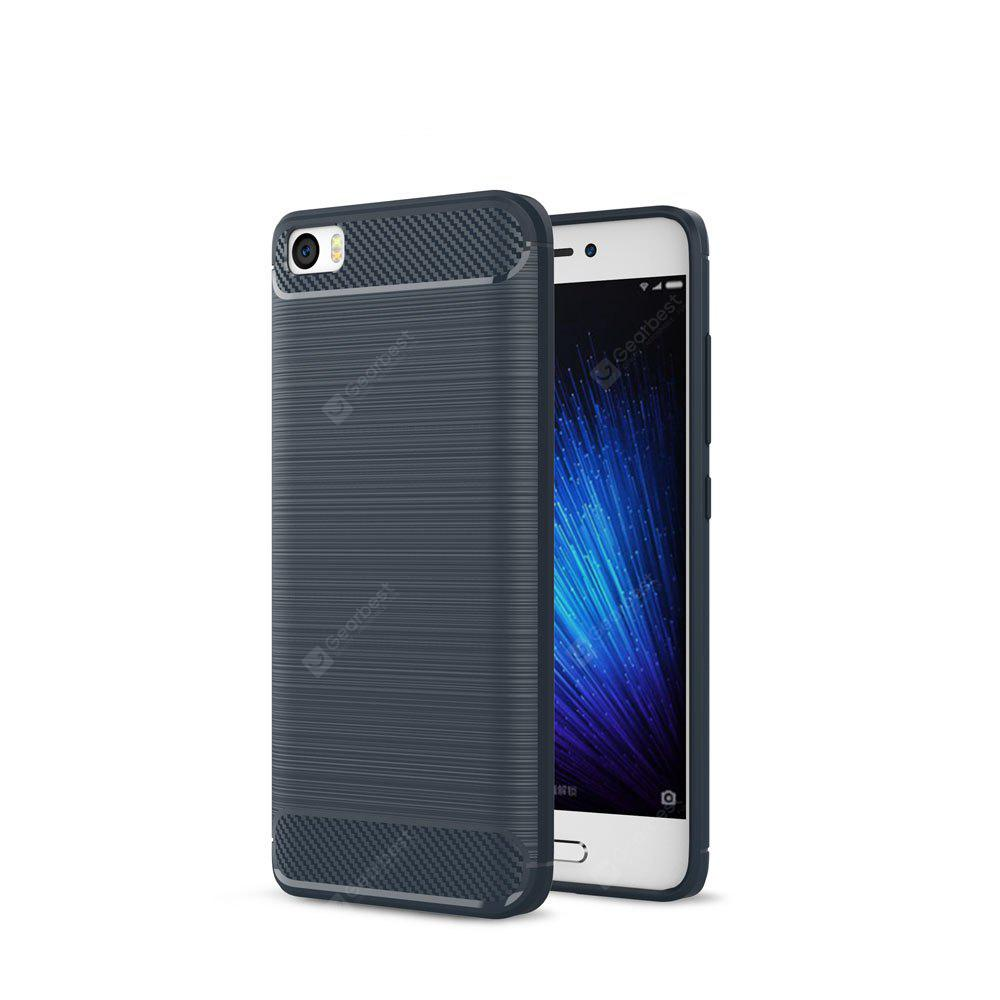 Luxury Carbon Fiber Anti Drop TPU Soft Cover Case for Xiaomi Mi 5