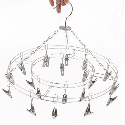 Stainless steel Hosiery rack High grade double solid sock clip 20 clip multifunctional clothes hanger