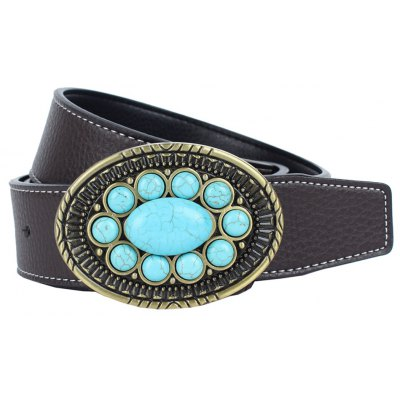 Turquoise American Cowboy Fashion Belt Leather