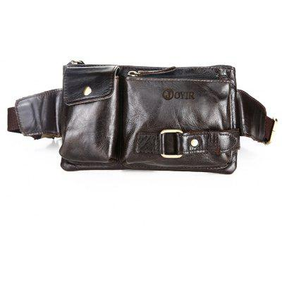 Men's Leather Sport Waist Bag