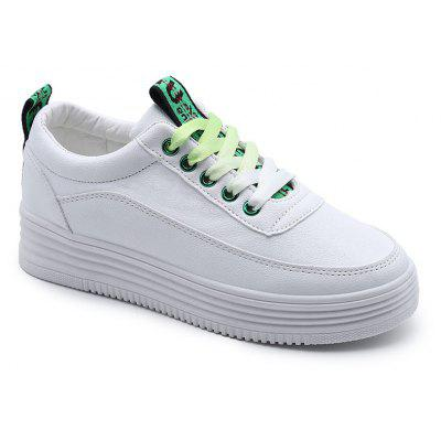 New All-Match White Fashion Casual Student Flat Singles Shoes