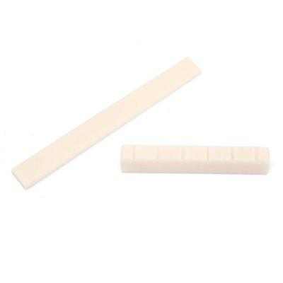 Natural Bone Guitar String Bridge Saddle And Nut Set For Classical Guitar PartsGuitar Parts<br>Natural Bone Guitar String Bridge Saddle And Nut Set For Classical Guitar Parts<br><br>Materials: Bone<br>Package Contents: 1 x Bone nut, 1 x Bone saddle<br>Package size: 9.00 x 7.00 x 1.00 cm / 3.54 x 2.76 x 0.39 inches<br>Package weight: 0.0063 kg<br>Product size: 8.00 x 0.30 x 0.80 cm / 3.15 x 0.12 x 0.31 inches<br>Suitable for: Guitar, Electric Guitar<br>Type: Other
