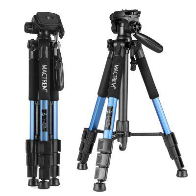 Mactrem PT55 Travel Camera  Tripod Lightweight Aluminum for DSLR SLR Canon Nikon Sony Olympus DV with Carry Bag