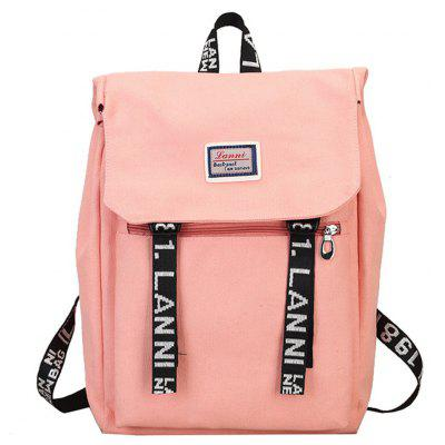 Zaino da donna Personalized Candy Color Letter Stampa Casual Preppy Bag