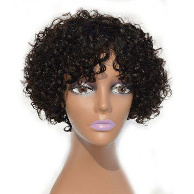 Brazilian Curly Short Human Hair Lace Front Wig Bleached and Knots 10 12 14Inch