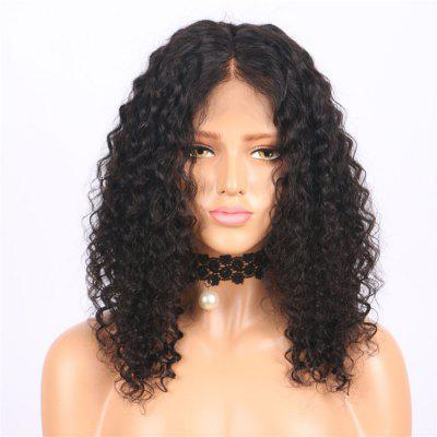 Brazilian Curly Virgin Human Hair Lace Front Wig Black Color 14 16 18Inch
