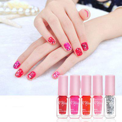 Pro Nail Polish 5 Pcs A Combination Set (30ml) 4 Awesome Fashion Styles with Nail File Makeup Beauty Care Nail Lacquer G