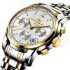 New Famous Brand Luxury Watches Men Stainless Steel Casual Business Watch Waterproof Man Quartz Analog Watches Zegarki M - GOLD AND WHITE