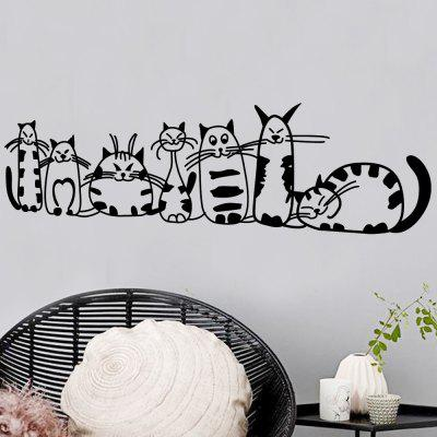 Cute Cats Wall Sticker For Kids Room Decoraion Vinyl Decal