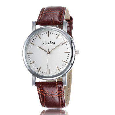 New Fashion Casual Leather Watch Simple Dial Women's Watch Men Quartz