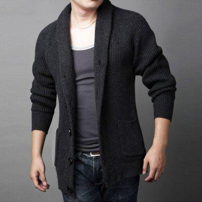Winter Thick Men Warm Cardigan Popular SweaterMens Sweaters &amp; Cardigans<br>Winter Thick Men Warm Cardigan Popular Sweater<br><br>Closure Type: Single Breasted<br>Collar: Turn-down Collar<br>Hooded: No<br>Material: Cotton<br>Package Contents: 1XCardigan<br>Package size (L x W x H): 1.00 x 1.00 x 1.00 cm / 0.39 x 0.39 x 0.39 inches<br>Package weight: 0.7200 kg<br>Pattern Type: Solid<br>Product weight: 0.7100 kg<br>Size1: M,L,XL,2XL,3XL<br>Sleeve Length: Full<br>Sleeve Style: Regular<br>Style: Casual<br>Technics: Flat Knitted<br>Thickness: Thick<br>Type: Cardigans<br>Wool: Standard Wool