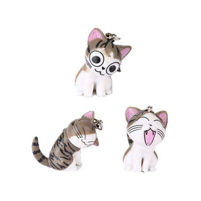 3pcs Cat and Tiger  Clips Keychains Toy Decoration Furnishing Articles Wedding Favors and Gifts