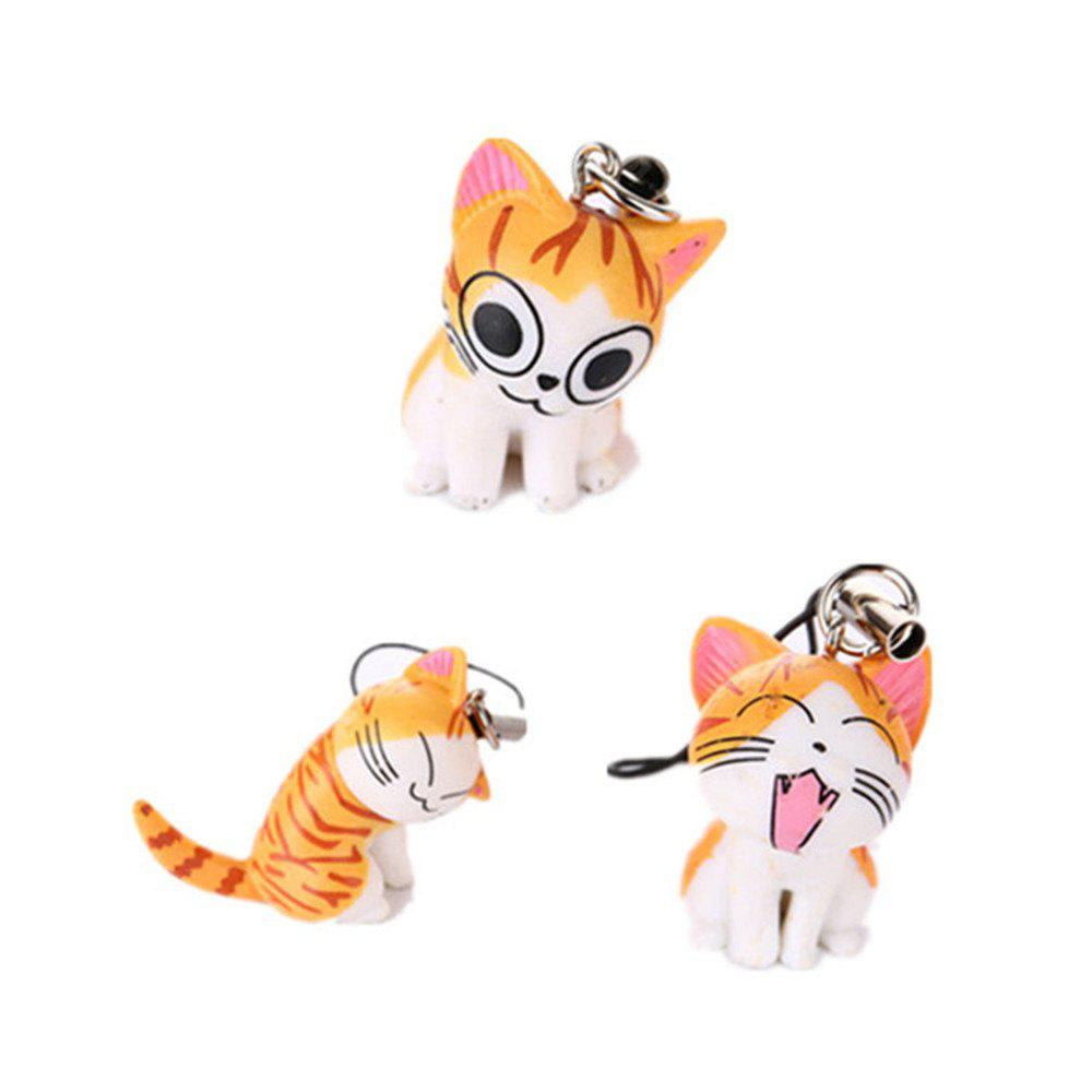3pcs Cat and Tiger Clips Keychains Toy Decoration Furnishing ...