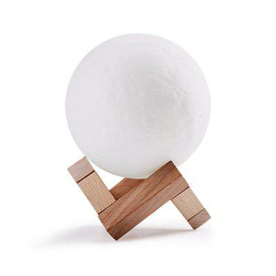 Luz de la noche 3D Print Moon Lamp USB LED Luz de la luna Gift Touch Sensor Cambio de color Night Lamp Home Decoraton 10CM Diamet
