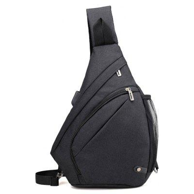 Male Oxford Cloth Fashion Chest Backpack
