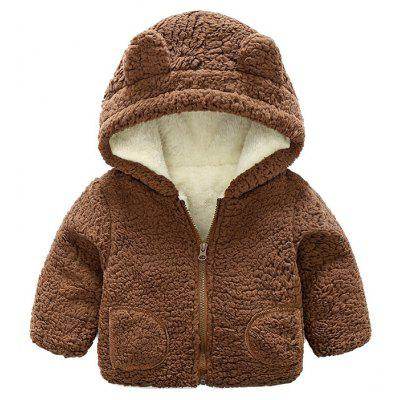 Boy'S Hooded Long Sleeve Embroidered Coat