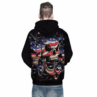 MenS 3D Printed Big Pocket HoodiesMens Hoodies &amp; Sweatshirts<br>MenS 3D Printed Big Pocket Hoodies<br><br>Fabric Type: Broadcloth<br>Material: Cotton, Polyester<br>Package Contents: 1 x Hoodie<br>Shirt Length: Regular<br>Sleeve Length: Full<br>Style: Casual<br>Weight: 0.4000kg