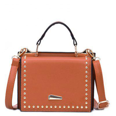 Bolso de mujer de color sólido Rivet bolsa hombro Messenger Small Square Bag
