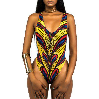 New Ladies Bikini Stripes Color Swimsuit