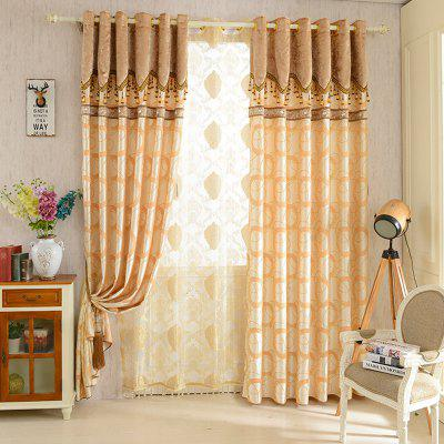 European Jacquard Blackout Curtains For Living Room Window Curtains For The  Bedroom ...