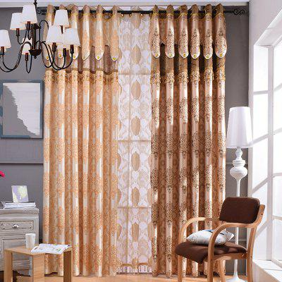 European Embossed Jacquard Blackout Curtains For Living Room Window Curtains  For The Bedroom Luxury ...