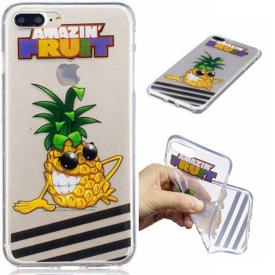 für iPhone 8 Plus Ananas Muster Painted High Penetration TPU Material IMD Prozess weichen Fall Telefon Fall