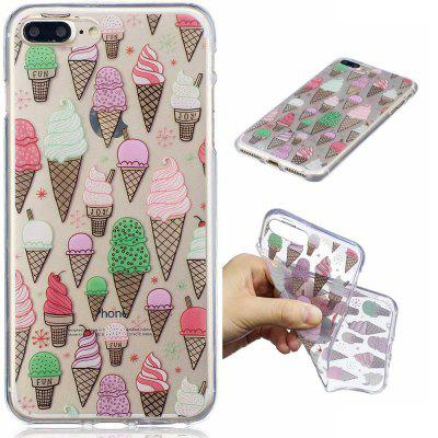 für iPhone 8 Plus Ice Cream Muster Painted High Penetration TPU Material IMD Prozess weichen Fall Telefon Fall