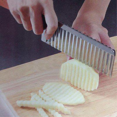 Kitchen Tools Multifunction Stainless Steel Corrugated Knife Potato Strip Cutting Device Frech Fries CutterOther Cooking Tools<br>Kitchen Tools Multifunction Stainless Steel Corrugated Knife Potato Strip Cutting Device Frech Fries Cutter<br><br>Package Contents: 1 x Vegetable tools<br>Package Size(L x W x H): 22.50 x 6.50 x 2.00 cm / 8.86 x 2.56 x 0.79 inches<br>Package weight: 0.0600 kg<br>Product weight: 0.0500 kg