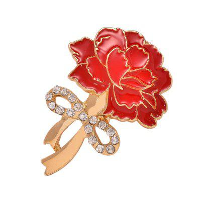 Crystal Flower Carnation Brooches For Women Bijoux Mother's Day Gifts