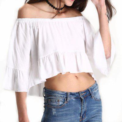 2018 New Spring Short ShirtBlouses<br>2018 New Spring Short Shirt<br><br>Collar: Slash Neck<br>Elasticity: Nonelastic<br>Fabric Type: Chiffon<br>Material: Polyester<br>Package Contents: 1xShirt<br>Pattern Type: Solid<br>Shirt Length: Short<br>Sleeve Length: 3/4 Length Sleeves<br>Sleeve Type: Butterfly Sleeve<br>Style: Casual<br>Weight: 0.1000kg
