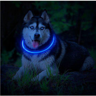Yeshold LED Dog Necklace Collar USB Rechargeable Safety Waterproof Light up Adjustable Flashing Pet Neck Loop