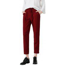 Toyouth Casual Mid Waist Ankle Leng Harem Pants