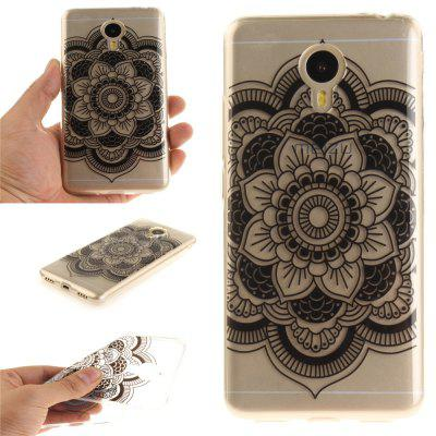 Funda para Meizu M3 Note Black Sunflower Soft Clear IMD TPU Funda para teléfono móvil Smartphone