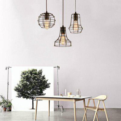 Industrial Ceiling Light Fixture Retro Pendant Lamps for Office Room  Living Dining Room BedroomsPendant Light<br>Industrial Ceiling Light Fixture Retro Pendant Lamps for Office Room  Living Dining Room Bedrooms<br><br>Bulb Base: E26,E27<br>Bulb Included: No<br>Bulb Type: Halogen,Incandescent,LED<br>Chain / Cord Adjustable or Not: Chain / Cord Adjustable<br>Chain / Cord Length ( CM ): 120<br>Decoration Material: Metal<br>Dimmable: No<br>Features: Wrought Iron, Designers<br>Finish: Paint<br>Fixture Material: Metal<br>Light Direction: Ambient Light<br>Number of Bulb: 3 Bulbs<br>Number of Bulb Sockets: 3<br>Package Contents: 1 x Lamp Body, 1 x Fittings Bag<br>Package size (L x W x H): 46.00 x 46.00 x 36.00 cm / 18.11 x 18.11 x 14.17 inches<br>Package weight: 2.5000 kg<br>Product size (L x W x H): 30.00 x 30.00 x 120.00 cm / 11.81 x 11.81 x 47.24 inches<br>Product weight: 2.0000 kg<br>Remote Control Supported: No<br>Shade Material: Metal<br>Stepless Dimming: No<br>Style: Country, Simple Style, Vintage antique<br>Suggested Room Size: 15 - 20?<br>Suggested Space Fit: Bedroom,Dining Room,Living Room<br>Type: Pendant Light<br>Voltage ( V ): 220V - 240V,AC110 - 120V