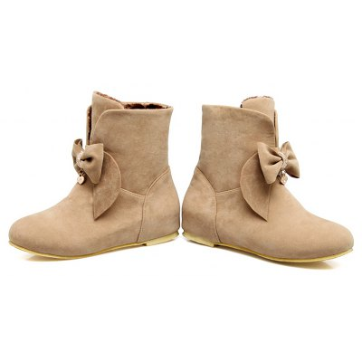 Comfort  Round Toe Ankle BootsWomens Boots<br>Comfort  Round Toe Ankle Boots<br><br>Boot Height: Ankle<br>Boot Tube Circumference: 25<br>Boot Tube Height: 12<br>Boot Type: Snow Boots<br>Closure Type: Slip-On<br>Embellishment: Bow<br>Gender: For Women<br>Heel Height: 2<br>Heel Height Range: Low(0.75-1.5)<br>Heel Type: Flat Heel<br>Insole Material: PU<br>Lining Material: PU<br>Outsole Material: Rubber<br>Package Contents: 1xShoes(pair)<br>Pattern Type: Solid<br>Platform Height: 1<br>Season: Winter<br>Shoe Width: Medium(B/M)<br>Toe Shape: Round Toe<br>Upper Material: PU<br>Weight: 1.2000kg