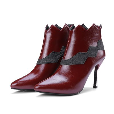 Stiletto Heel Pointed Toe Ankle BootsWomens Boots<br>Stiletto Heel Pointed Toe Ankle Boots<br><br>Boot Height: Ankle<br>Boot Tube Circumference: 25<br>Boot Tube Height: 10<br>Boot Type: Fashion Boots<br>Closure Type: Zip<br>Gender: For Women<br>Heel Height: 9<br>Heel Height Range: High(3-3.99)<br>Heel Type: Stiletto Heel<br>Insole Material: PU<br>Lining Material: PU<br>Outsole Material: Rubber<br>Package Contents: 1xShoes(pair)<br>Pattern Type: Solid<br>Platform Height: 1<br>Season: Winter<br>Shoe Width: Medium(B/M)<br>Toe Shape: Pointed Toe<br>Upper Material: PU<br>Weight: 1.3200kg