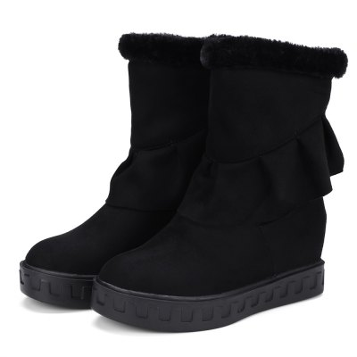 Round Toe Height Increasing Snow BootsWomens Boots<br>Round Toe Height Increasing Snow Boots<br><br>Boot Height: Mid-Calf<br>Boot Tube Circumference: 29<br>Boot Tube Height: 20<br>Boot Type: Snow Boots<br>Closure Type: Zip<br>Gender: For Women<br>Heel Height: 6<br>Heel Height Range: Med(1.75-2.75)<br>Heel Type: Increased Internal<br>Insole Material: PU<br>Lining Material: PU<br>Outsole Material: Rubber<br>Package Contents: 1xShoes(pair)<br>Pattern Type: Solid<br>Platform Height: 3<br>Season: Winter<br>Shoe Width: Medium(B/M)<br>Toe Shape: Round Toe<br>Upper Material: PU<br>Weight: 1.3200kg