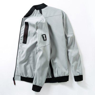Young Fashion Stand-Collar JacketMens Jackets &amp; Coats<br>Young Fashion Stand-Collar Jacket<br><br>Clothes Type: Jackets<br>Collar: Stand Collar<br>Material: Polyester<br>Package Contents: 1x Jacket<br>Season: Spring, Fall, Winter<br>Shirt Length: Regular<br>Sleeve Length: Long Sleeves<br>Style: Casual<br>Weight: 0.5000kg