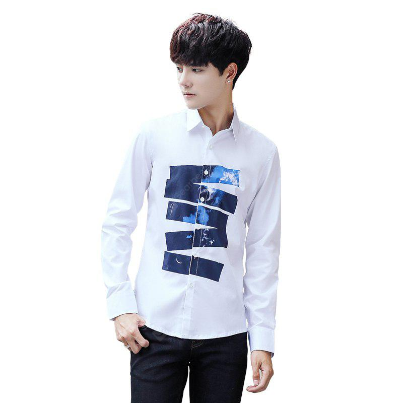 Young Casual Long-Sleeved Printed Iron Shirt