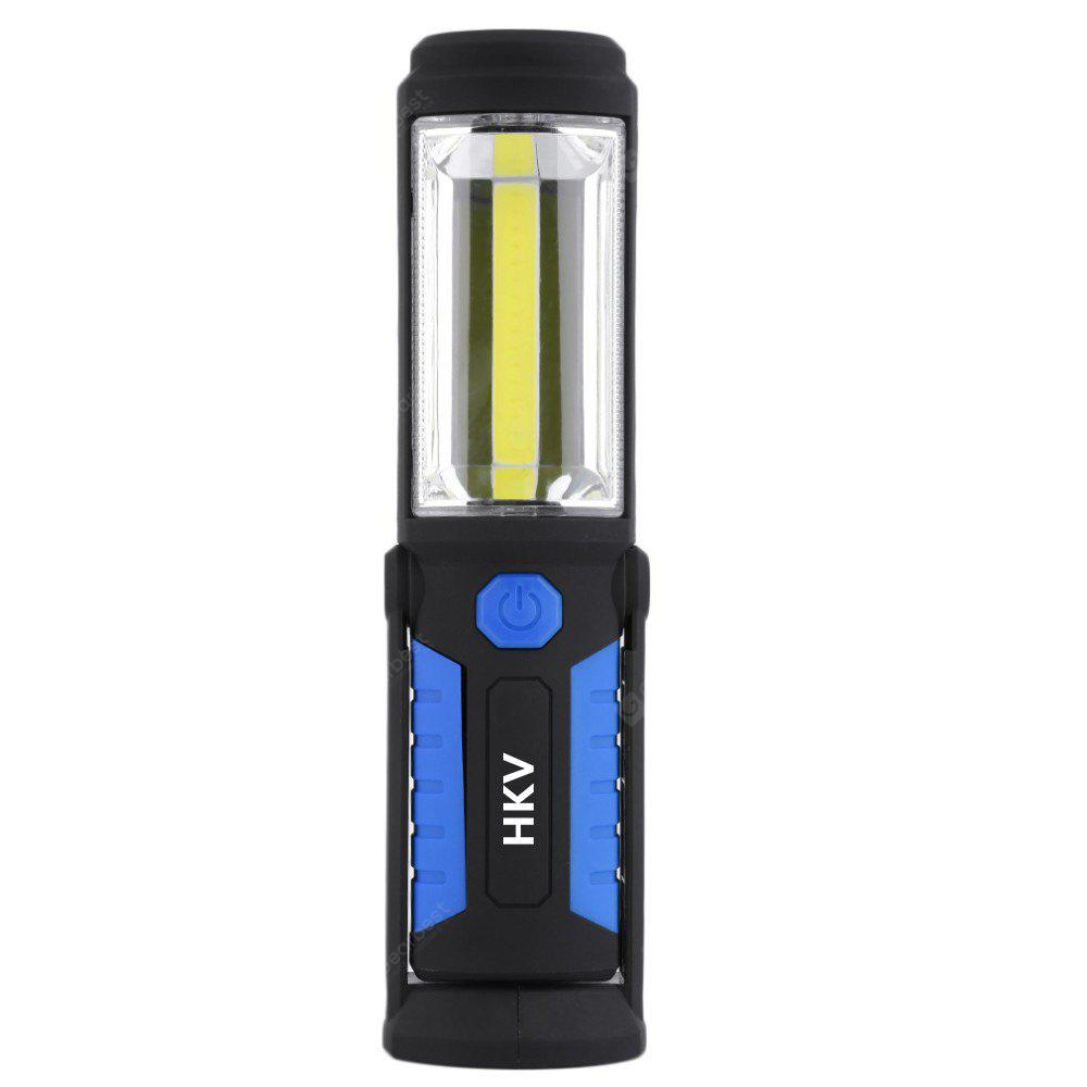 HKV LED Flashlight Magnetic Rechargeable Work Light Stand Hanging Torch Lamp For Work