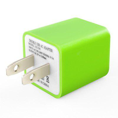 XY Double USB Charger 5V 2.1A Mobile Intelligent Charging Head US Plug